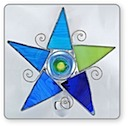 Blue and Green Star